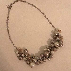 Multi beaded statement necklace